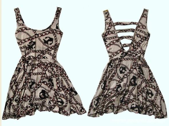 Suknie i sukienki RIVER ISLAND PUDROWY RÓŻ w kotwice MARYNArska S
