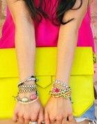 DIY biżuteria neon neonowa torebka