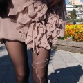 Sukienka h&m Nude Anja Rubik Lanvin