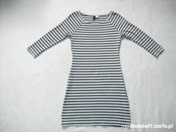 Suknie i sukienki H&M marynarska sukienka tunika w paski