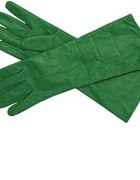 Zielone skórzane rękawice...