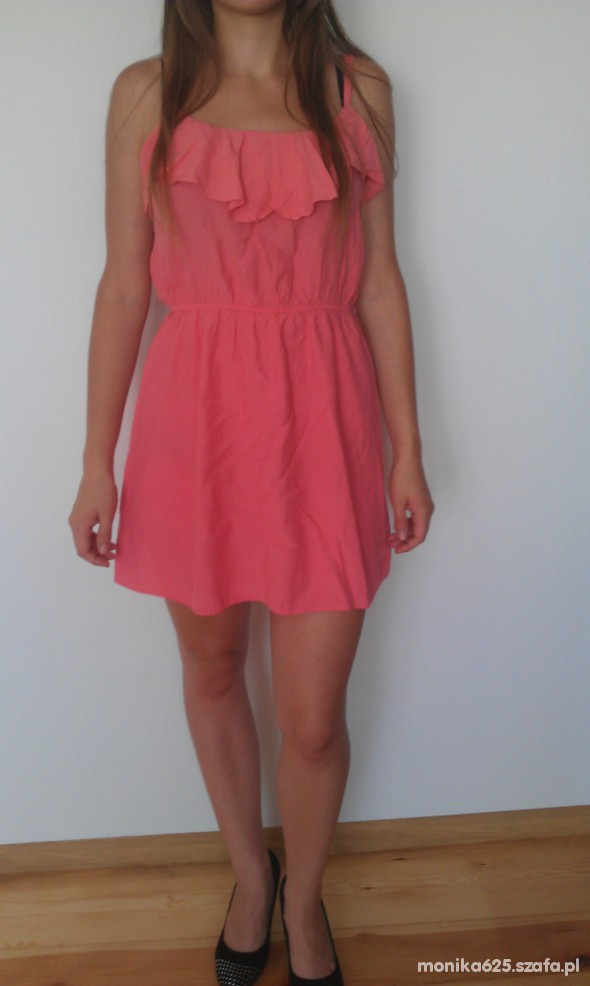 Suknie i sukienki koralowa sukienka