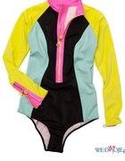 kostium strój kąpielowy h&m 2012 suwak rękaw...