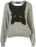 sweter z odwróconym kotem topshop