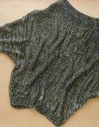 czarny sweter złota nić kimono z metkami 29zł