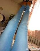 TREGGINSY rureczki jasny jeans AZTEC pasek gratis