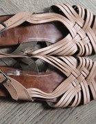 sandałki vintage ze skóry 37