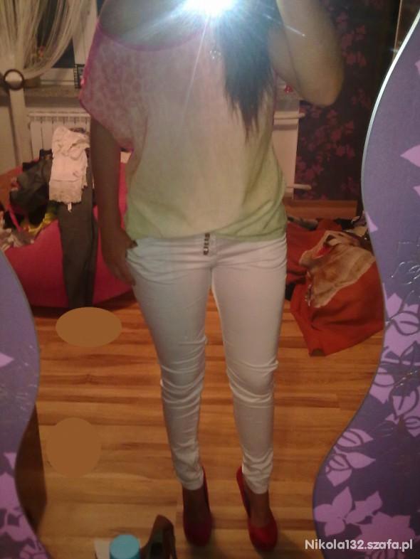 Mój styl Białe spodnie