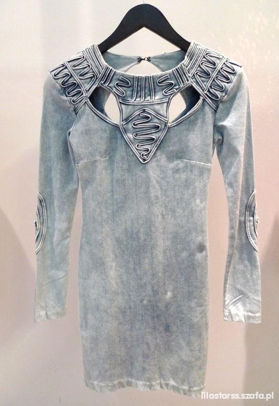 Fashion Against Aids H&M marmurkowa sukienka