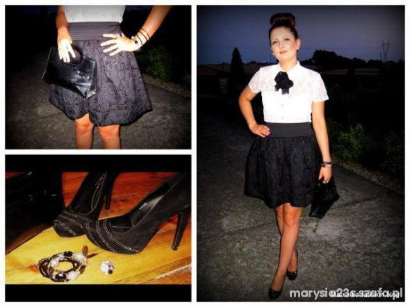 Mój styl czerń plus biel Marcelka Fashion