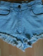 spodenki z wysokim stanem krótkie jeansowe