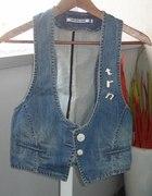jeansowa kamizelka terranova