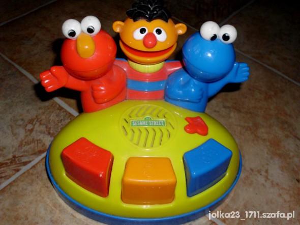Zabawki Zabawka pianino z bohaterami z ul Sezamkowej