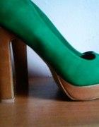 Zielone shoes