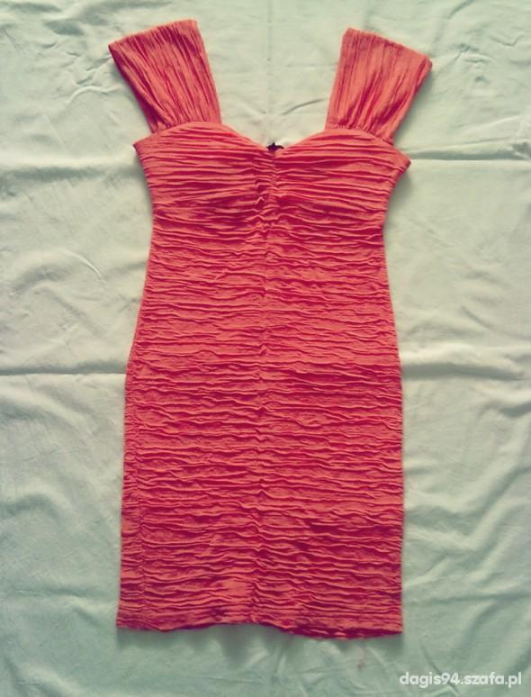 Suknie i sukienki Łososiowa sukienka
