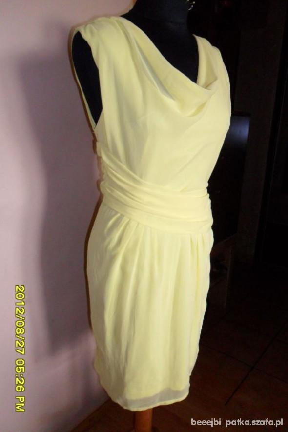 Suknie i sukienki Żółta orsay