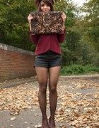 jesiennie burgundowo