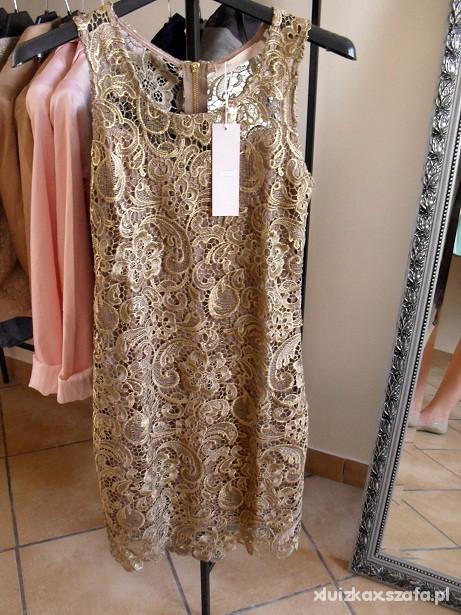 1f3dc735a4 Złota koronkowa sukienka w Suknie i sukienki - Szafa.pl