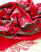 czerwona chusta góralska...