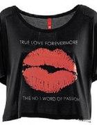 H&M bluzka XS oversize zamszowe usta...
