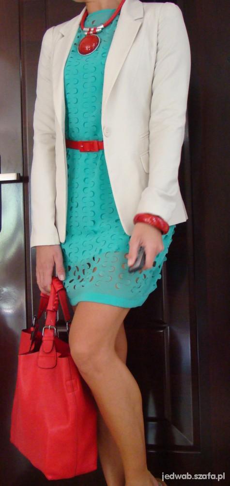 Mój styl Zara mięta Bershka beż i czerwień