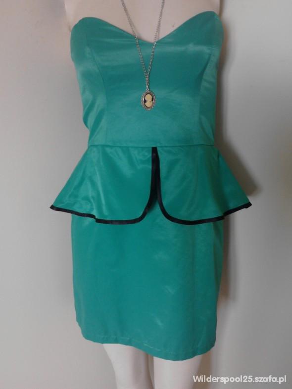Suknie i sukienki 40 Atmosphere peplum sukienka tulipan nowa zielen