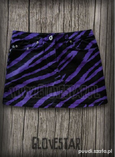 spódniczka mini w panterkę lub zebrę...