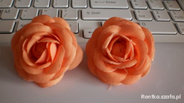 2 różyczki H i M pomarańczowe HIT