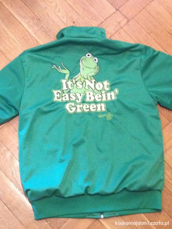 Zielona bluza adidasa z kermitem