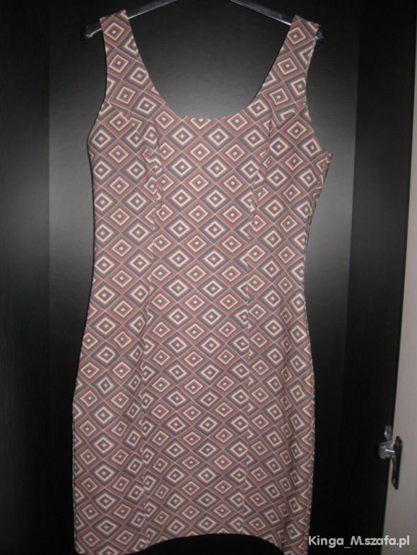 Suknie i sukienki Sukienka w romby