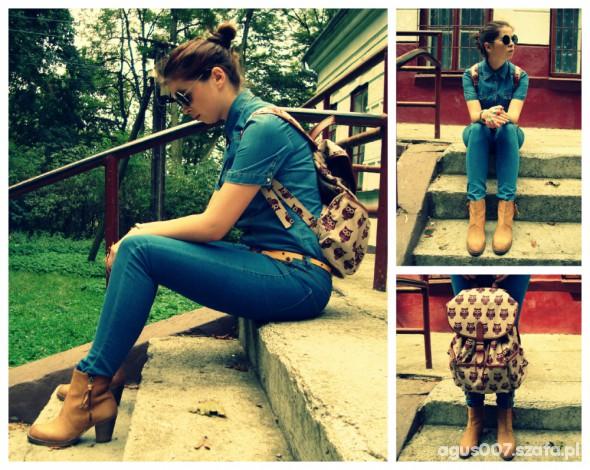 Mój styl owl backpack