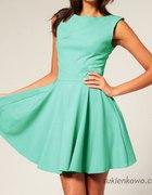 Rozkloszowana sukienka Audrey wesele TKANINA M 38