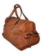 PARFOIS torebka z kokardkami camel brązowa kuferek...