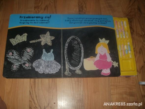 Zabawki ksiązeczka tablica do malowania