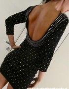 Sukienka H&M by night koraliki perelki
