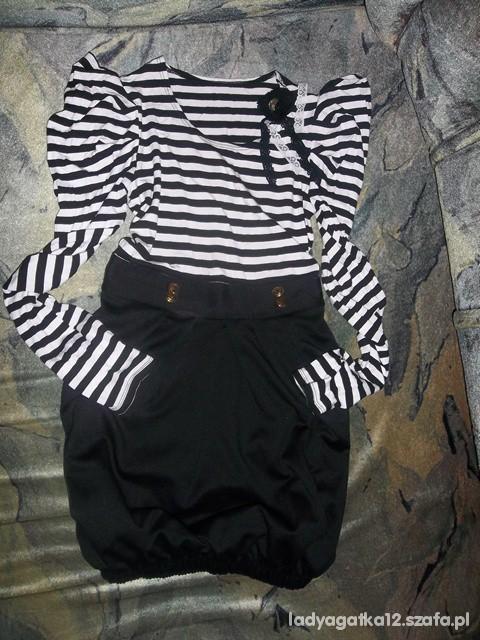 Suknie i sukienki marynarska sukienka 34 36