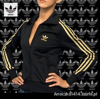najlepszy wybór na stopach o zegarek Adidas Firebird bluza damska Czarno Złota L w Bluzy - Szafa.pl