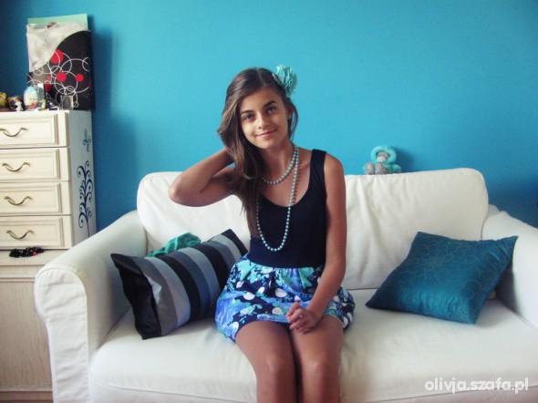 Mój styl niebieska sukienka