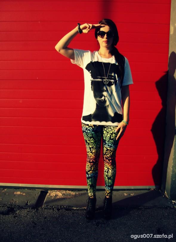 Mój styl aztec leggings