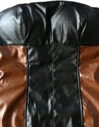 Skórzana sukienka brązowo czarna L