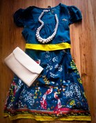 zjawiskowa folkowa sukienka