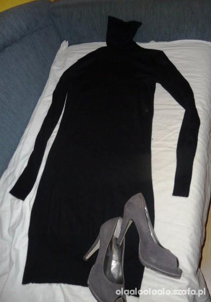 Suknie i sukienki Sweterkowa sukienka z golfem Top Secret S