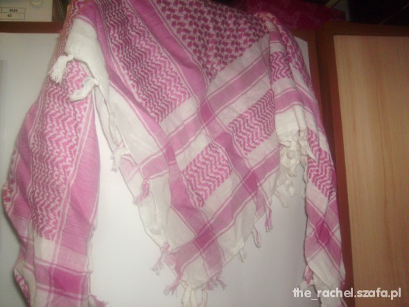 Chusty i apaszki Różowa arafatka różowo biała