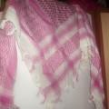 Różowa arafatka różowo biała