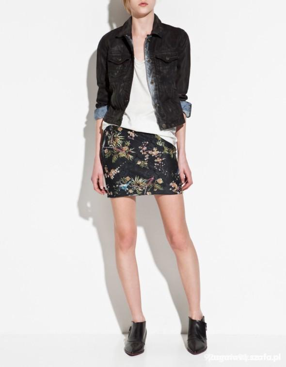 czarna kurtka katana jeansowa zara