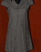 Sukienka w pepitke New Yorker czarna biala 42