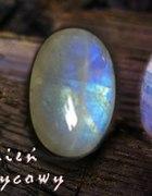 Fluoryt kamień księżycowy srebro