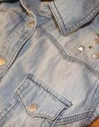 koszula jeans ćwieki