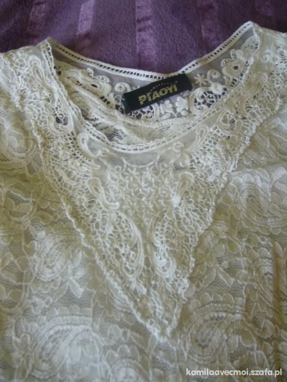 biała bluzka koronkowa