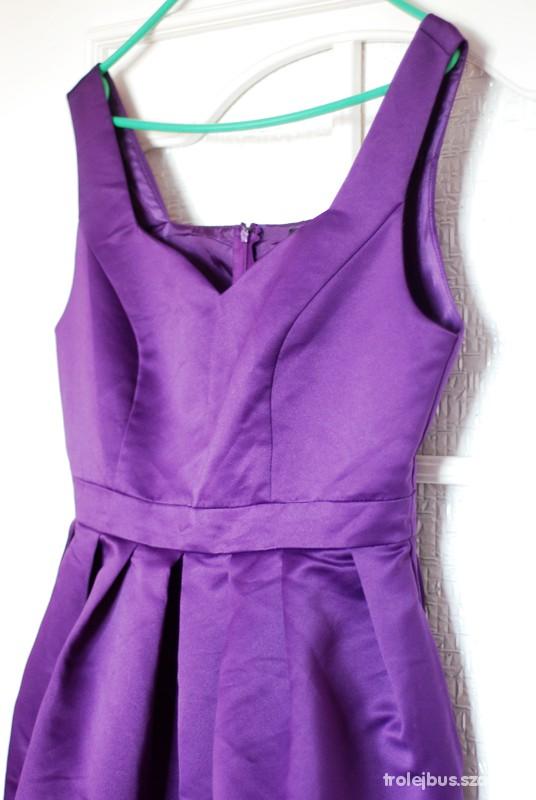 Suknie i sukienki Elegancka fioletowa sukienka bombka